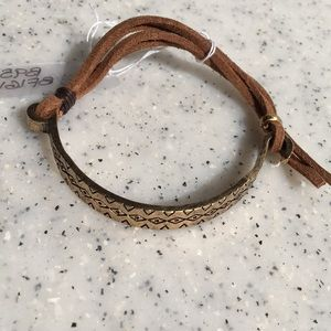 Anthropologie Leather & Cooper Bracelet